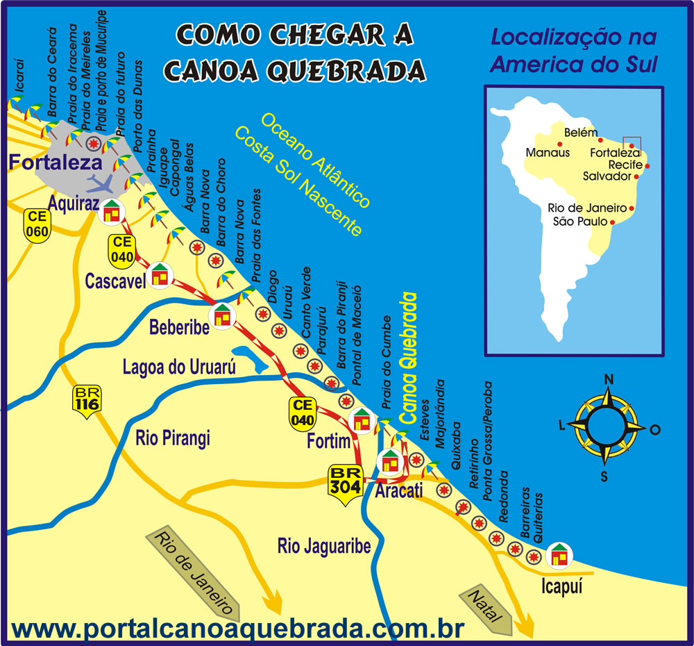 CANOA QUEBRADA How to get to Canoa Quebrada Brazil